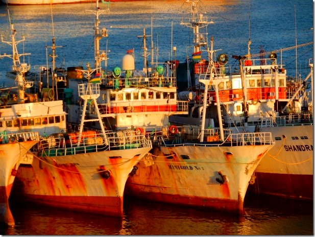 Old ships in Mauritius harbour