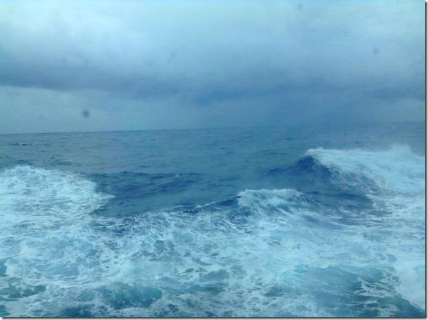 Rough Seas in the Arabian Sea as ms Rotterdam Sails Towards the Seychelles