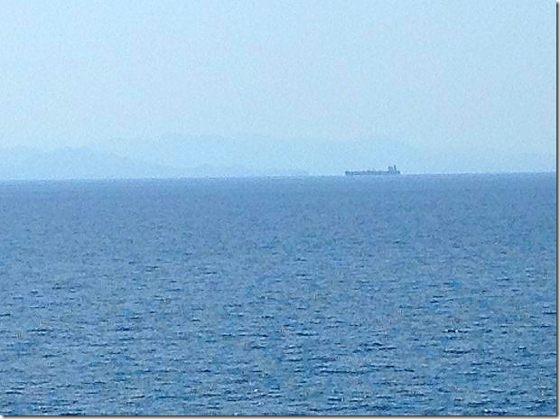 Sailing the  Gulf of Oman towards Abu Dhabi, UAE