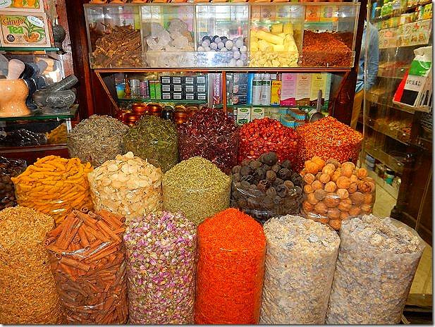Spices at the Spice Souk in Dubai
