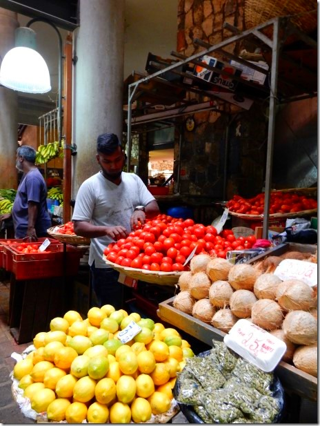 Vendors in Port Louis Central Market