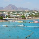 View of Sharm El Sheik from Iberotel-Lido Hotel Rooftop Deck