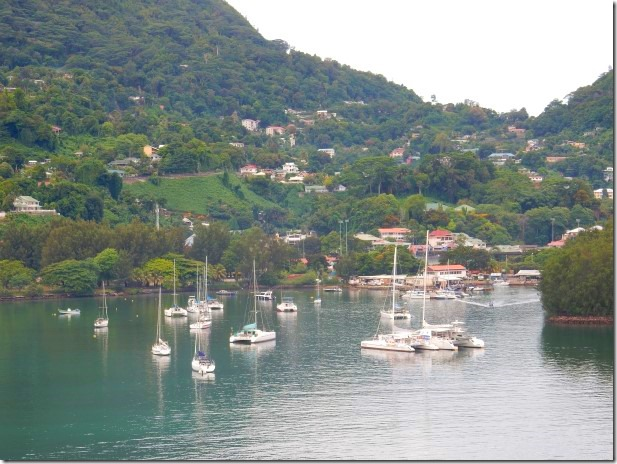 View of Victoria, Seychelles