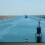 ms Rotterdam sailing the Suez Canal