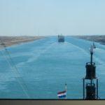 ms Rotterdam sailing the Suez Canal