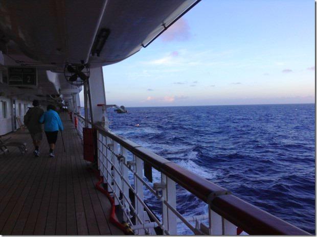ms Rotterdam sails the Indian Ocean towards Mauritius