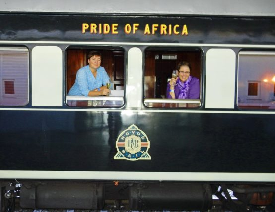 Viv and Jill on Rovos Rail Pride of Africa