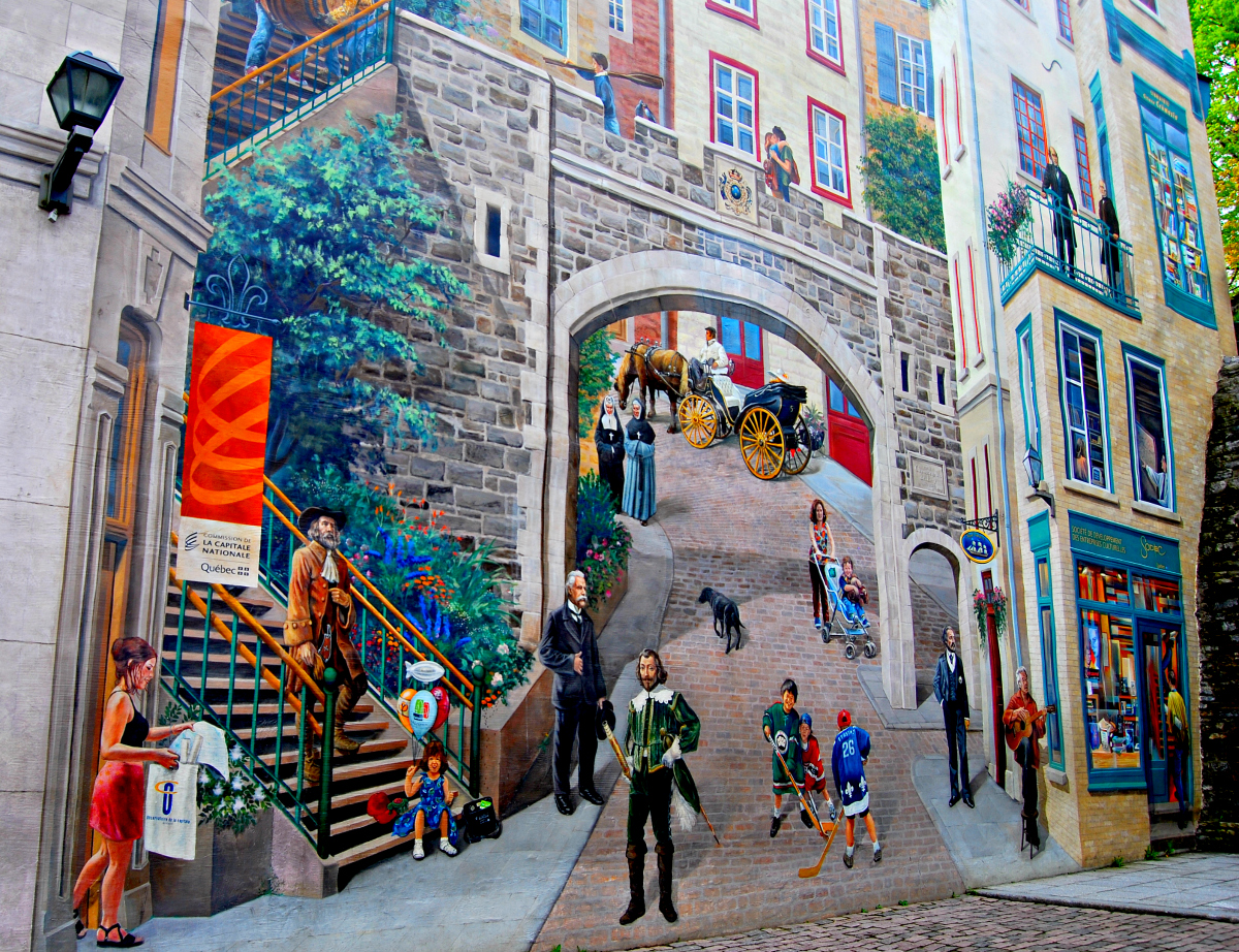 Fresque des Québécois in Quebec City