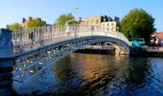 Ha'penny Bridge in Dublin, Ireland