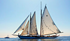 Schooner Zodiac Sailing in the San Juan Islands