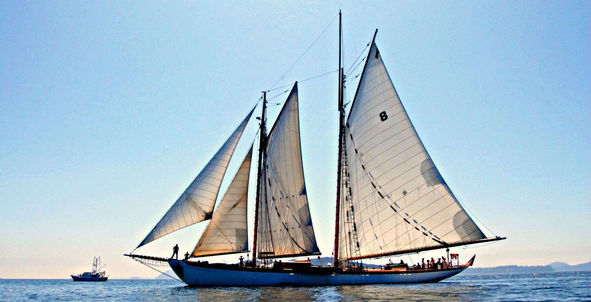 Schooner Zodiac in San Juan Islands