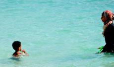 Woman Swimming in Abu Dhabi, UAE