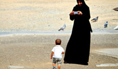 Woman at the Beach in Muscat, Oman