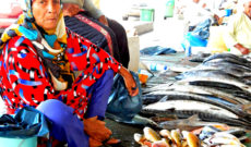 Woman at Fish Market in Muscat, Oman