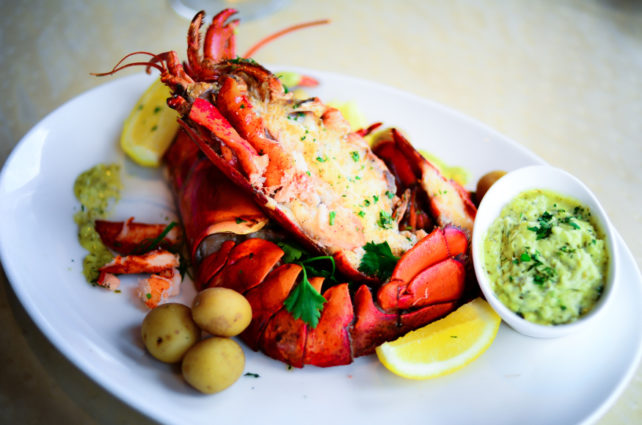 Maine Lobster Paired with Peewee Potatoes, Herbs and Béarnaise