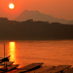 Mekong River Sunset in Laos