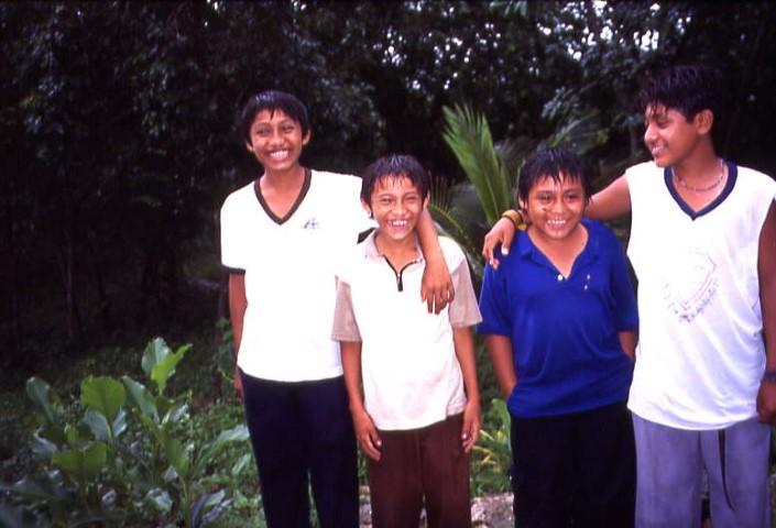 Mexico - Ek-Balam Mayan Children