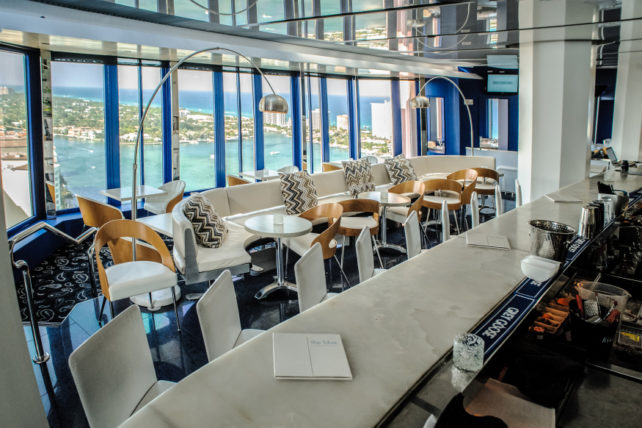 The Blue Bar and Lounge in the Boca Raton Resort & Club