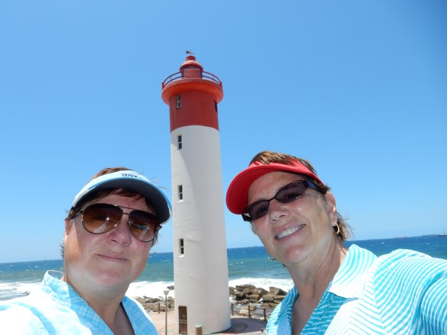 Viv and Jill in South Africa