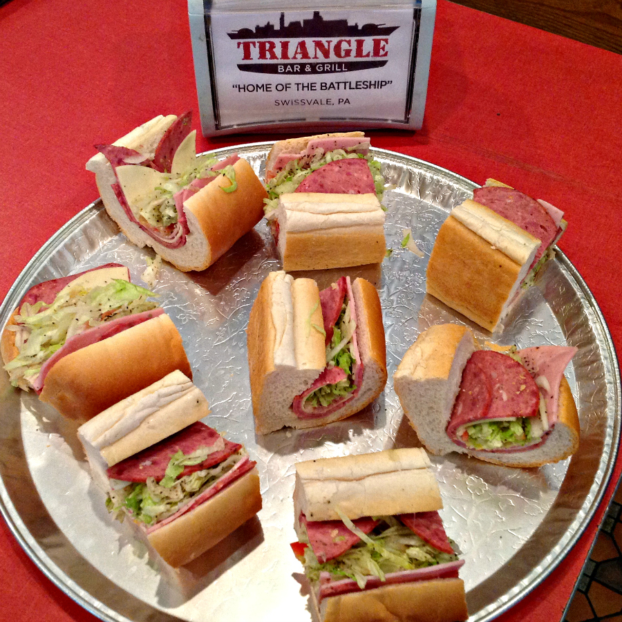 Pittsburgh Rust Belt Steel City Sampler - The Triangle Battleship Sandwich