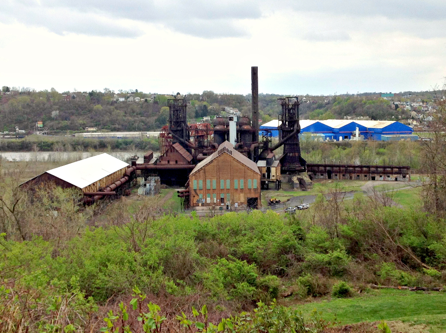 Travel Pennsylvania: Pittsburgh Rust Belt Steel City Sampler - Former steel mill near The Triangle