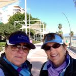 Viv and Jill in Malaga, Spain