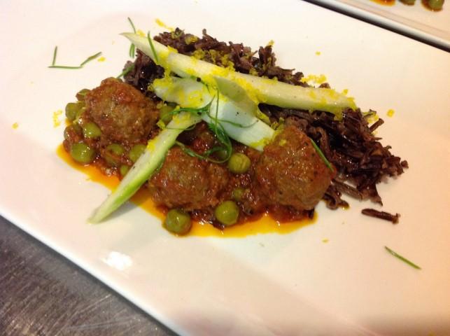 Moroccan Meatballs with Peas Tajine