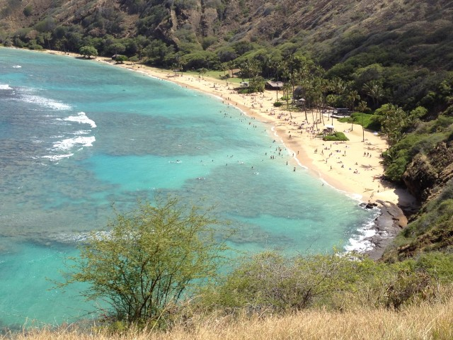 Hanauma Bay on Oahu, Hawaii
