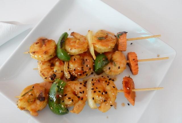 Fire's Shrimp Skewers