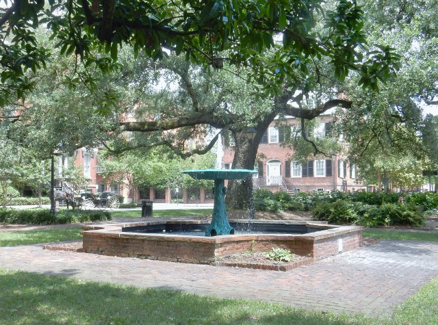 Savannah Square in the Historic District