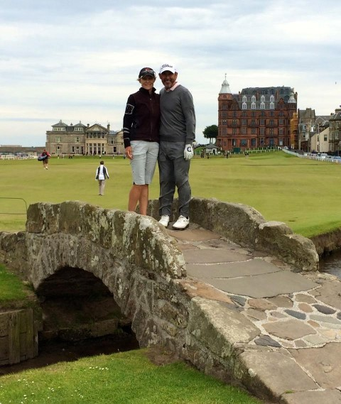 Ethel and Terry DeMarr at St. Andrews Old Course