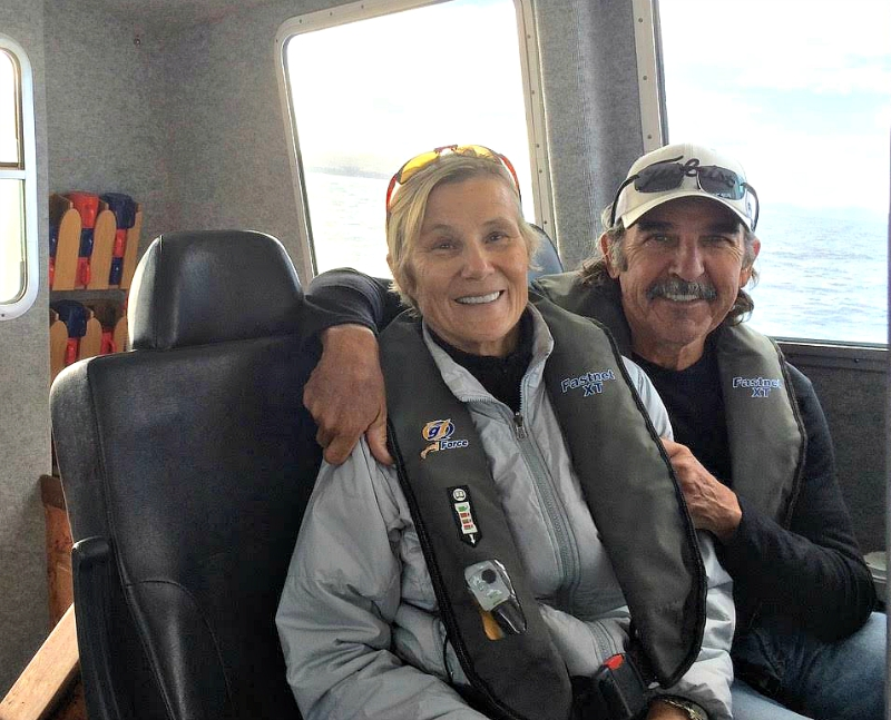Ethel and Terry DeMarr on Orca III