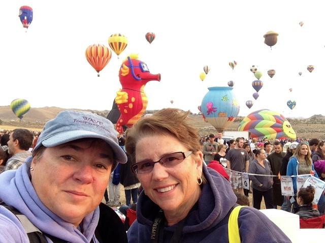 Viv and Jill at Great Reno Balloon Race 2015