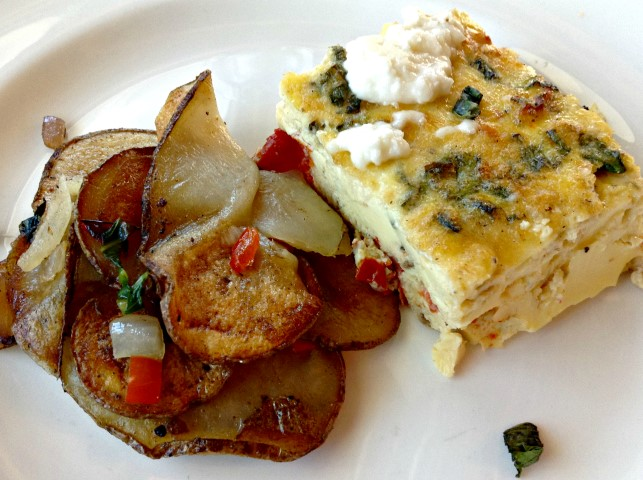 Breakfast Special - Roasted Tomato Frittata with Potatoes