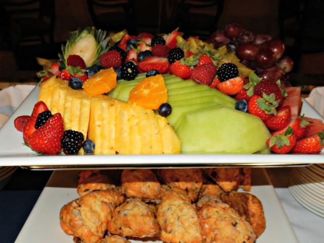 Early Riser Breakfast - Fresh Fruit and Scones