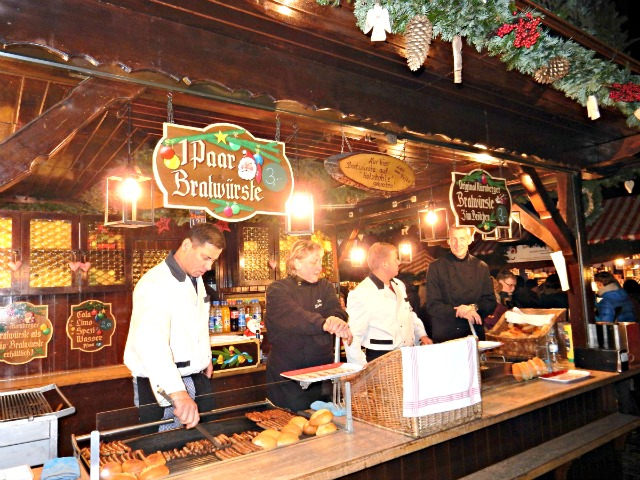 Bratwurst at Nuremberg Christmas Market
