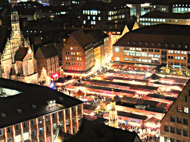 Nürnberg Christmas Market at Night