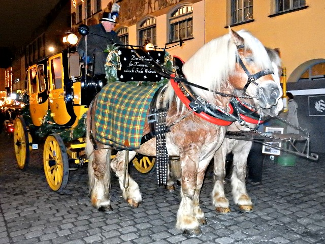 Stagecoach at Nuremberg Christmas Market