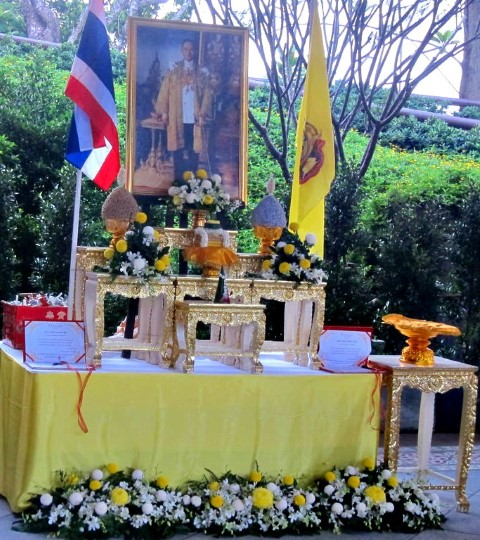 Altar to Celebrate the Birthday of the King of Thailand
