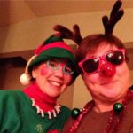 Jill and Viv - Spanky Elf and Rudolph