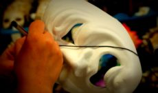 Making a Venetian Carnival Mask