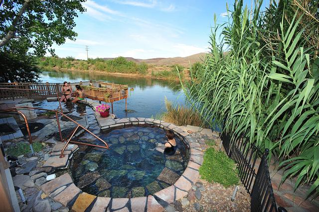 Mineral Hot Spring Pool at Riverbend Hot Springs Resort