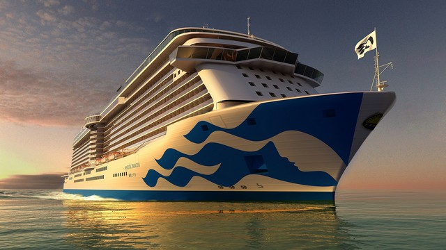 Majestic Princess Debuts New Hull Livery Design