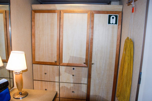 Commodore Cabin 311 Closet and Drawers