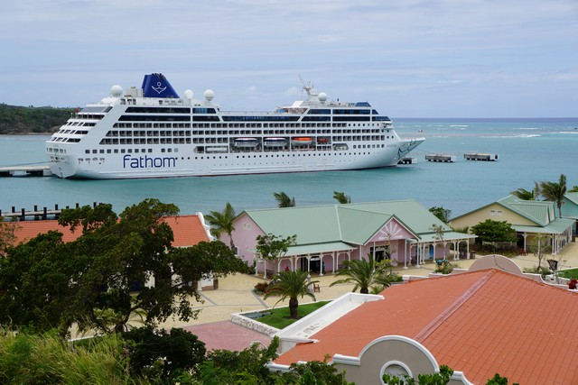 Fathom Ship Adonia at Amber Cove in the Dominican Republic