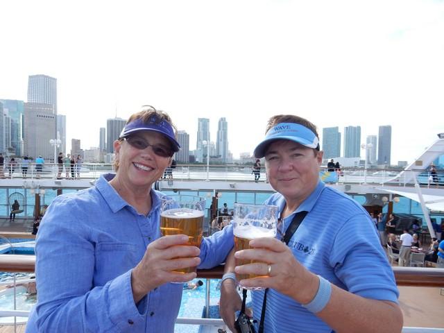 Jill and Viv on Fathom Adonia in Miami