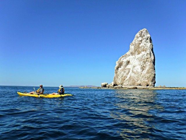 Kayaking at Agua Verde in the Sea of Cortes