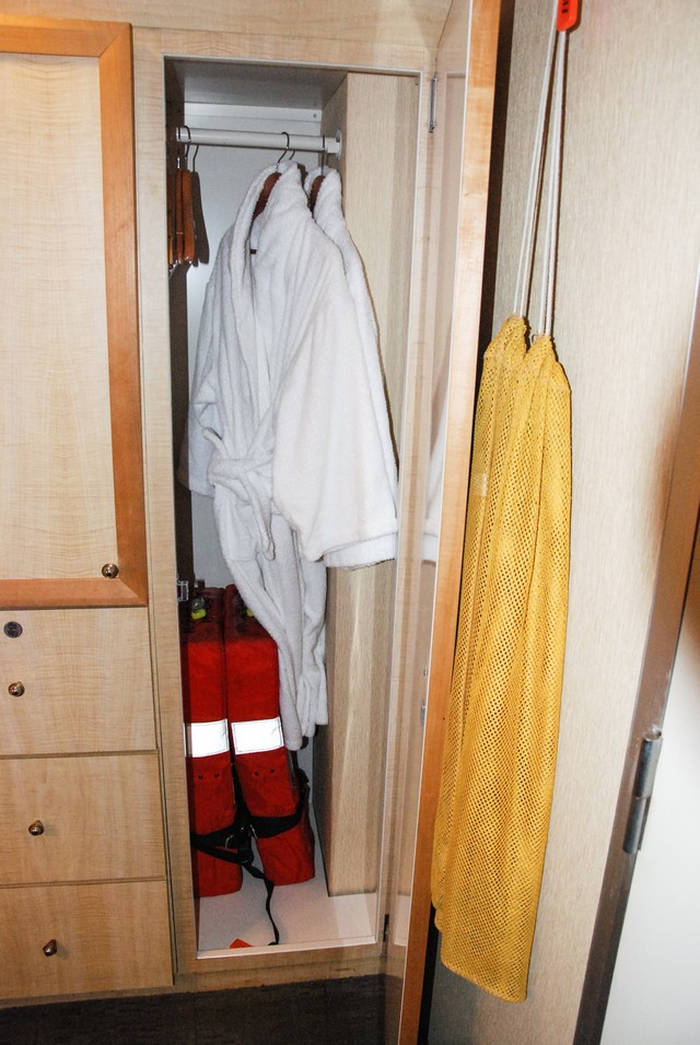 Robes and Life Jackets in Cabin 311