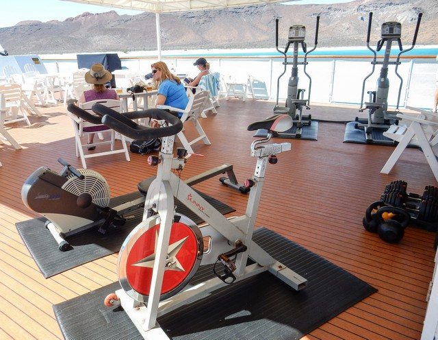 Safari Endeavour Exercise Equipment on the Sun Deck