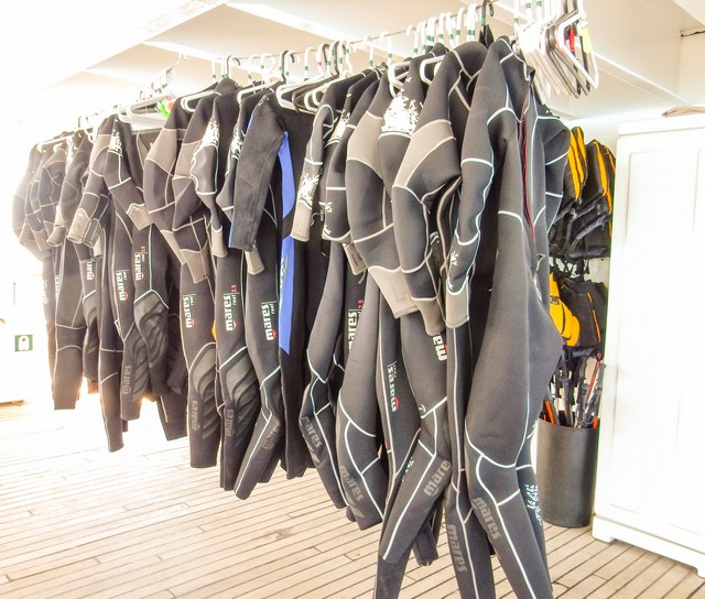 Wetsuits are available for guests to use